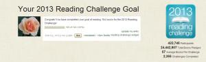 Goodreads 2013 challenge