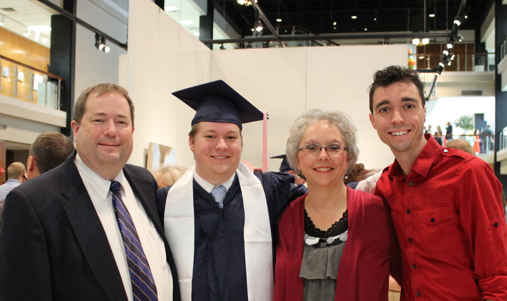 Scott, Mark, Sue, and Brian after convocation