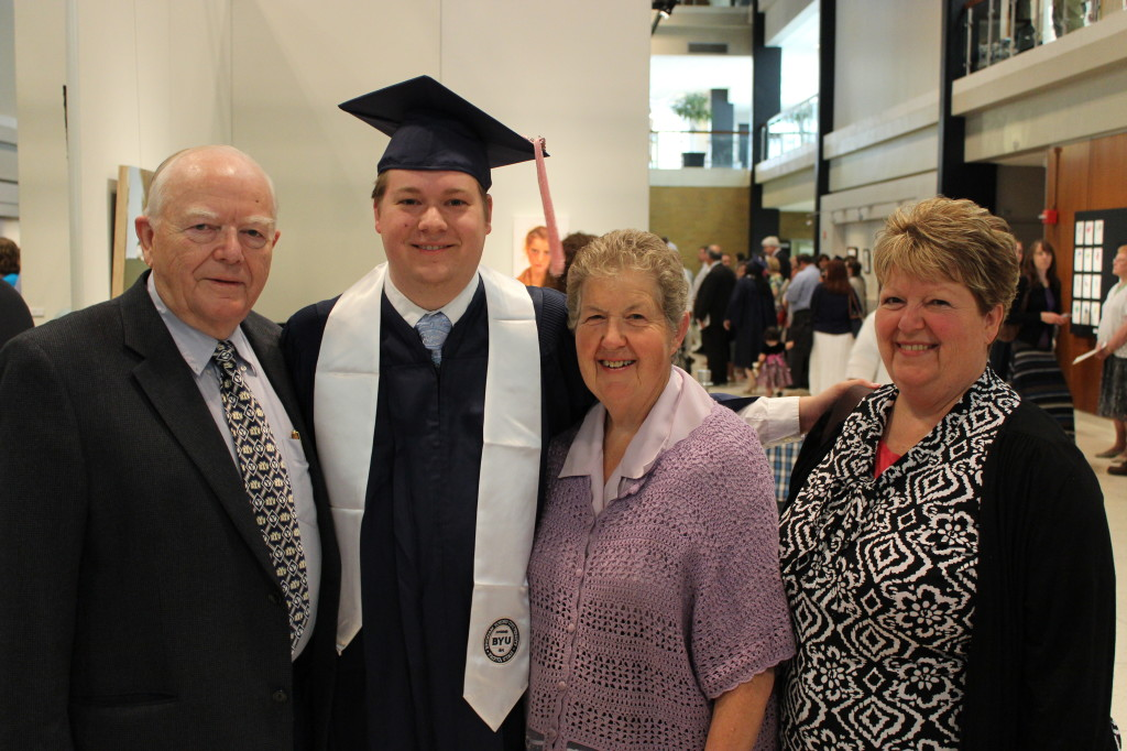 Mark with his Grandparents and Aunt Janice