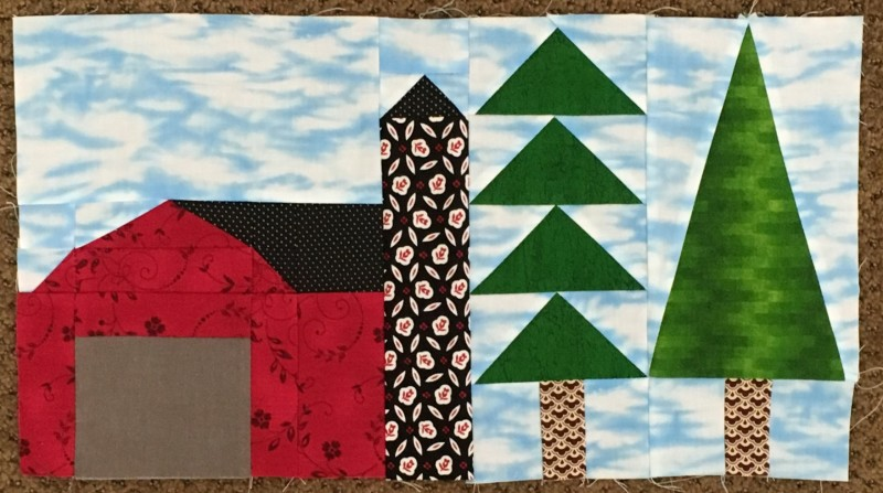 Sue barn & trees