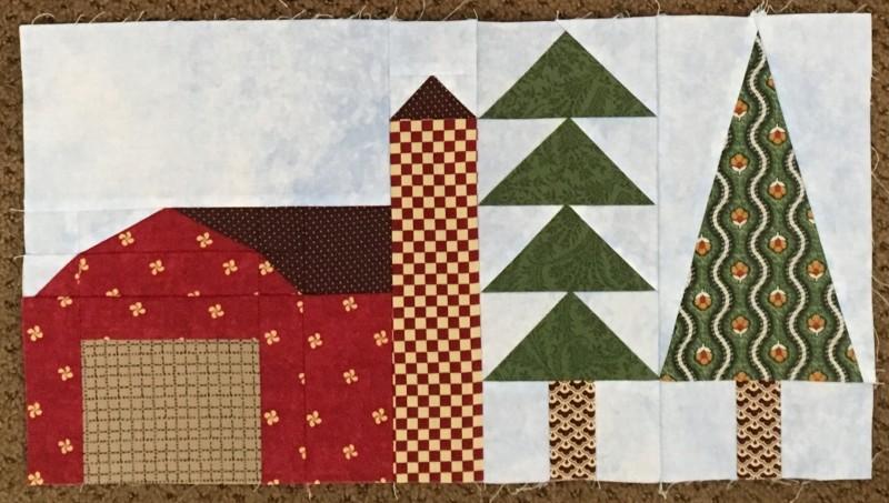 Terry barn & trees